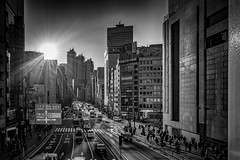 Sunset in Shinjuku (Tokyo, Japan. Gustavo Thomas © 2019) (Gustavo Thomas) Tags: sunset sinjuku city urban street mono monochrome bnw bnwphotography blackandwhite tokyo nippon nihon japan asia sunlight shinjuku