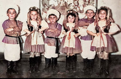 The Dancers (theirhistory) Tags: boy child children kid girl costume hat play trousers jacket wellies wellingtonboots