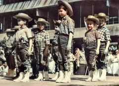 Parade (theirhistory) Tags: boy child children kid shirt hat trousers stage wellies wellingtonboots