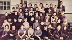 Class photo (theirhistory) Tags: boy child children kid jumper trousers school wellies wellingtonboots