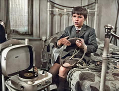 Killing records (theirhistory) Tags: boy child children kid recordplayer jacket tie shorts