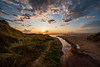 Every Path leads to the Ocean. (MM Forster) Tags: sunset sonnenuntergang beach strand lagoon stream denmark danmark ultrawide 14mm nordjylland water reflections
