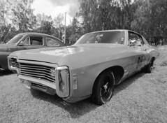 Chevy Impala 327 (LarsHolte) Tags: pentax 645 pentax645 645n 6x45 smcpentaxa 35mm f35 120 film 120film analog analogue kosmo foto mono 100iso rodinal aph09 mediumformat blackandwhite classicblackwhite bw monochrome filmforever filmphotography ishootfilm larsholte homeprocessing sweden classiccar amcar chevy impala