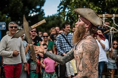Pirate (~ Jessy S ~) Tags: pirate nikon nikkor nikond750 d750 portrait man homme men tattoo tatouages sky ciel eyes yeux skin peau tatoué