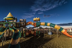 Empy playground [Explore 2019.08.20] (Mario Ottaviani Photography) Tags: bluehour sea sunset mare shore beach playground empty gabicce marche