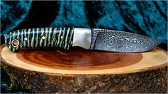 Damastmesser (robert.pechmann) Tags: messer damast knife mammutzahn handmade rosendamast macro uhb15n20 11274