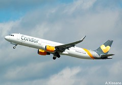 CONDOR A321 D-AIAG (Adrian.Kissane) Tags: airliner airline jet plane aircraft airbus aeroplane german germany aviation flight flying departing sky outdoors 6590 1352017 a321 daiag dusseldorf condor