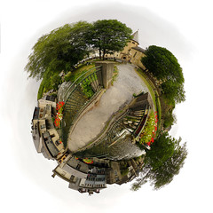 Over the bridge - Mini planet (David B. - just passed the 7 million views. Thanks) Tags: panorama ville town city miniplanet planet river rivière france sony midipyrénées arreau pyrénées hautespyrénées occitanie aure louron vallée mountains mountain montagne montagnes lac lake tour tower castle tinyplanet smallplanet planetoid a6000 sonya6000 sonyalpha6000 ilce6000 sonyilce6000 1018 wideangle sun sunny sunshine sky cloud clouds église chapel church