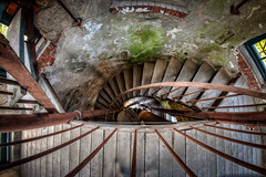 Half way Up (Frank C. Grace (Trig Photography)) Tags: fallriver tower history abandoned stairs spiral nikon massachusetts unitedstatesofamerica watertower historic hdr bedfordstreet d850 photography rust north newengland rusty urbanexploration granite watertank crusty waterworks highdynamicrange standpipe urbex dpw departmentofpublicworks pressurereliefvalve watuppapond spindlecity trigphotography frankcgrace northwatuppapond on1pics