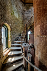 Half way Up (Frank C. Grace (Trig Photography)) Tags: massachusetts fallriver tower history abandoned stairs spiral nikon unitedstatesofamerica watertower historic hdr bedfordstreet photography rust north newengland rusty urbanexploration granite watertank crusty waterworks highdynamicrange standpipe urbex dpw departmentofpublicworks d850 pressurereliefvalve watuppapond spindlecity trigphotography frankcgrace northwatuppapond on1pics