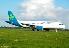 AER LINGUS A320 EI-DVL (Adrian.Kissane) Tags: aviation irish ireland airport taxing departing grass sky outdoors jet plane airline airliner aeroplane airbus aircraft 4678 1072019 a320 eidvl shannonairport shannon aerlingus