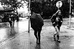 Images on the run... (Sean Bodin Images) Tags: city people rain subway candid citylife streetphotography photojournalism streetportrait streetlife picturesque reportage hillerød citypeople smartphonephotography seanbodin blackwhite blackandwhite