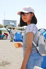 SAKURAKO - ISHIKARI ASO BEACH. (MIKI Yoshihito. (#mikiyoshihito)) Tags: ishikariasobeach 石狩 hokkaido 石狩浜 sakurako 櫻子 さくらこ 娘 daughter サクラコ 長女 10歳10ヶ月 eldestdaughter