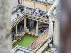 Spying on the baths (tubblesnap) Tags: roman baths aerial tourist attraction history historical architecture buikdings