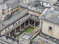 Baths from the Abbey (tubblesnap) Tags: roman baths aerial tourist attraction history historical architecture buikdings