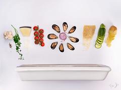tiella.. (Antonio Iacobelli (Jacobson-2012)) Tags: puglia bari rice mussels potatoes patate riso cozze zucchina zucchini pecorino cheese tomatoes parsley fujifilm medium format gfx50r