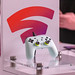 Google Stadia Controller on display at the Gamescom in Cologne, Germany