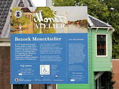 monet was here (andrevanb) Tags: zaandam monet atelier river zaan green paint painting