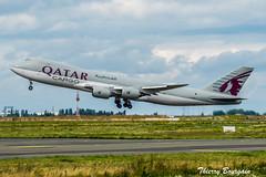 [CDG] Qatar Airways Cargo Boeing 747-8F _ A7-BGA (thibou1) Tags: thierrybourgain cdg lfpg spotting aircraft airplane nikon d810 tamron sigma qatarairwayscargo boeing boeing747 b747 b7478f a7bga takeoff fret freight