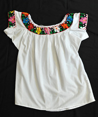 Mexican Blouse Tabasco Chontal Textiles (Teyacapan) Tags: blusa mexicana chontal tabasco nacajuca flores flowers embroidered textiles blouses mexico ropa