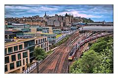 Postcard from the edge (david.hayes77) Tags: lner class43 hst edinburgh scotland 2019 dusk edinburghwaverley regentroad caltonroad jacobsladder 1e30 highspeedtrain