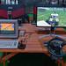 Gamescom Retro-Vergleich: Farming Simulator auf einem alten Commodore-PC mit Joystick und der neue Landwirtschaftssimulator mit Lenkrad