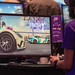 Gamescom visitor takes first place in the car racing game Need for Speed Heat by EA, on Asus monitor