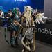Women doing cosplay at the German games fair Gamescom
