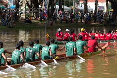 Green and Red Boat Racing Teams on the Brown River (jasonrosette) Tags: asia camerado jrosette jasonrosette cambodia siemreap river timetrials compete redteam athlete greenteam boatracing training