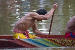 Straining Muscles During the Race (jasonrosette) Tags: camerado jrosette jasonrosette cambodia race boat competition oar men event male compete athlete row muscles buff strong