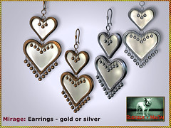 Bliensen - Mirage - Earrings (Plurabelle Laszlo of Bliensen + MaiTai) Tags: earrings jewelry romance wedding bridal gypsy hippie boho vintage retro indian 1001nights arabia ethno secondlife sl bliensen bliensenmaitai mesh