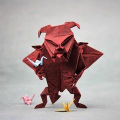 The Devil makes work for idle hands (pierreyvesgallard) Tags: origami devil jun maekawa paper crane cranes tsuru papercraft