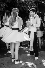 The dancers (gwpics) Tags: catalonia spanish catalan spain barcelona people mono couple dancers streetphotography catalonya editorial everydaylife lifestyle monochrome person society blackandwhite streetlife