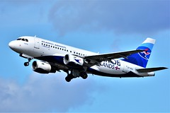 (CDG)  Atlantic Airways FAROE ISLANDS  Airbus A319  OY-RCG Takeoff runway 27L (dadie92) Tags: cdg roissy lfpg atlanticairways a319 airbus faroeislands oyrcg takeoff airplane aircraft spotting nikon d7100 tamron sigma 150500 danieldanel