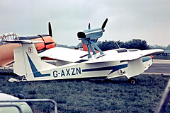 G-AXZN   Thurston TSC-1A Teal [008] Biggin Hill~G 21/05/1972 (raybarber2) Tags: 008 abpic airportdata cn008 cancelled egkb filed flickr floatplane gaxzn planebase raybarber single slide ukcivil writtenoff