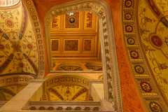 interior detail of the Hungarian State Opera House (Behind Budapest) Tags: 2019 365project 70d budapest canon hungary magyarorszag operahaz stateoperahouse terezvaros architecture building buildinginterior city epiteszet epulet lepcsohaz staircase town urban 250v10f