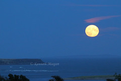 Moonrise over Bannow Bay (Ken Meegan) Tags: moonriseoverbannowbay moonrise bannowbay greatsalteeisland moon saltmills cowexford ireland 1582019 sea