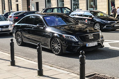Polan (Warsaw-Zoliborz) - Mercedes-Benz S 63 AMG V222 (PrincepsLS) Tags: poland polish license plate wx warsaw spotting mercedesbenz s 63 amg v222