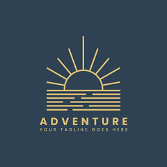 Outdoor adventure logo badge template (hasanbockthier) Tags: adventure adventurous badge beach blue bluebackground brand branding camp camping design element emblem graphic hiking hipster holiday icon illustration journey logo logotype nature outdoor sample sign stamp style summer sun sunset symbol tagline template text tour tourism travel vacation vector vintage water wilderness wildlife word yellow
