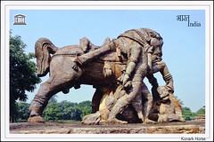 postcard - Konark Sun Temple, India (Jassy-50) Tags: postcard postcrossing india konark konarksuntemple statue sculpture horse unescoworldheritagesite unescoworldheritage unesco worldheritagesite worldheritage whs