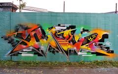 saner (SaNeR hVa KgB) Tags: aerosol art tag terrain typo mur couleur bombe colors couleurs ptdq painting peinture paris lettrage letters lettres lettering kgb hva handstyle graff graffiti france fat fatcap saner spot writer writing wall wildstyle can bande