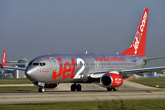 Jet2 Silver Jet (Infinity & Beyond Photography: Kev Cook) Tags: man airplane manchester airport aircraft airbus boeing airways airlines airliner 737 b737 ringway planespotting jet2 egcc silver photos planes scheme 737800 gjzhr