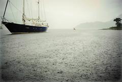 Highlanders (Nicolas Valentin) Tags: boat kayak fishing loch sea weather rain cloud atmospheric ecosse grey clouds