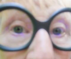 """Photo by Lotti: extreme close-up, so called Italian Shot: My mother`s eyes behind glasses Lottis Foto: Augen meiner Mutter. Brille: """"Schau Schau. Optikermeister Brillenmacher Peter Th. Kozich"""" Einzelanfertigung maßgenau handgefertigt in österr. Manufaktur (hedbavny) Tags: blurry verschwommen nahaufnahme extremecloseup italienisch detail italianshot closeup portrait porträt porträtfotografie brille augengläser spectacles specs barnacles goggles glasses eyeglasses black schwarz frame rahmen handgefertigt masanfertigung handwerk manufaktur brillenmanufaktur masgenau madeinaustria wienproducts auge unscharf eye face gesicht haut teint pink rosa yellow hautfarbe pastell hedbavny wien vienna austria österreich accidentalart impressionism"""
