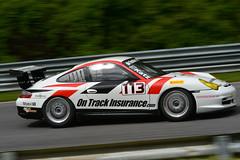 Number 113 3600cc 2005 Porsche 911 GT3 Cup (GT3.6) driven by Steve Katz (albionphoto) Tags: transam svra flames mustang corvette jaguarta2 lakeville ct usa 113 stevekatz gt36