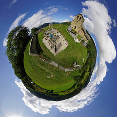 12th century church - Mini Planet (David B. - just passed the 7 million views. Thanks) Tags: panorama ville town city miniplanet planet river rivière france sony midipyrénées ens pyrénées hautespyrénées occitanie aure louron vallée mountains mountain montagne montagnes lac lake tour tower castle tinyplanet smallplanet planetoid a6000 sonya6000 sonyalpha6000 ilce6000 sonyilce6000 1018 wideangle sun sunny sunshine sky cloud clouds église chapel church graveyard cemetary