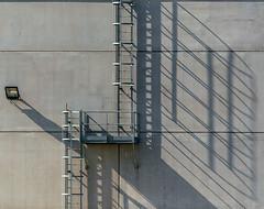 Shadow play (jefvandenhoute) Tags: belgium belgië light shapes shadows geometric antwerp antwerpen harbour