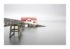M U T E D - M U M B L E S (Andrew Hocking Photography) Tags: mumbles ol lifeboatstation red pier highkey water seaside sea coast structure coastal mist calm overcast muted swansea wales southwales seafront shore seaguls peaceful tranquil cloudy building