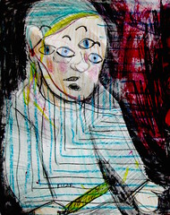 Edgar, The Dethroner (giveawayboy) Tags: art water pen pencil painting sketch paint acrylic drawing pastel eraser charcoal crayon coloredpencil ballpoint erasure fch tampa artist giveawayboy billrogers puppet edgar