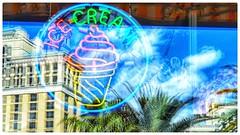 ICE cream (plismo) Tags: icecream lasvegas vegas plismo window reflection glass palms bracken nevada unitedstates thestripvegas neon neonsign sign